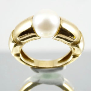 Bague MAUBOUSSIN en or et perle de culture