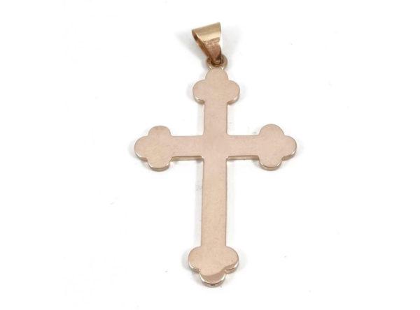 Pendentif Croix en or rose