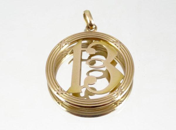 Pendentif rond Porte-Bonheur en or