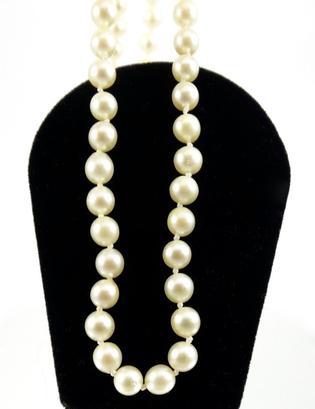 Sautoir de perles de cultures