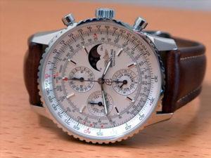 Breitling Navitimer Olympus, quantième bissextile, acier sur cuir